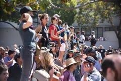 Berkeley Protests Against Fascism, racismo, e Donald Trump imagem de stock