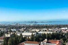 Berkeley sikt från campanilen, Kalifornien Royaltyfri Bild