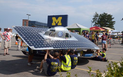 Berkeley solar car at American Solar Challenge Stock Photography