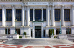 Berkeley University Library. BERKELEY, CA/USA - The University Library on the campus of the University of California, Berkeley is the fourth largest University stock image