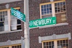 Berkeley y newbury Fotografía de archivo