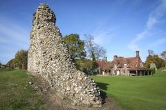 berkhamsted城堡英国赫特福德郡废墟 免版税库存照片