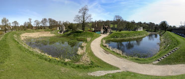 Berkhamsted castle panorama hertfordshire uk Stock Photo