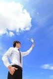 Beräknande begrepp för affär och för moln Royaltyfria Foton