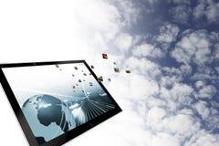 Beräknande illustration för moln Royaltyfri Bild