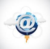 Beräknande internetuppkoppling för moln Arkivfoton