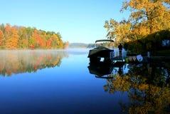 Berkshire fall foliage reflected on water Royalty Free Stock Photo