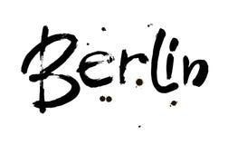 berkshires Huvudstad av Tyskland Färgpulverhandbokstäver Modern borstekalligrafi bakgrund isolerad white vektor royaltyfri illustrationer