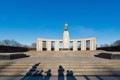 berkshires Monument till sovjet som är stupad av Tiergartenen med sha royaltyfria foton