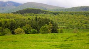 Berkshires in western massachusetts landscape. The rolling hills of the Berkshires in western massachusetts Stock Images