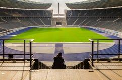BERLÍN, ALEMANIA, APIRL 17 - vista del bui de Olympia Stadium de Berlín Imágenes de archivo libres de regalías