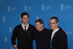 Juan Krasinski, Matt Damon y Gus Van Sant imágenes de archivo libres de regalías