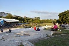 Tiempo libre en el parque Berlín Alemania de Gorlitzer Imagenes de archivo