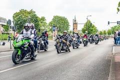Berlín, Alemania - 28 de mayo de 2016: Desfile de la motocicleta en Berlín contra violance Fotos de archivo