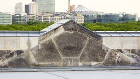 Berlín, Alemania - 29 de mayo de 2014: Interior de la bóveda de Reichstag imagen de archivo