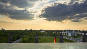 Berlín, Alemania - 29 de mayo de 2014: Paisaje urbano de Berlín de Reichst Imagen de archivo