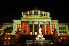 BERLÍN ALEMANIA 1 DE OCTUBRE DE 2017: Sala de conciertos durante el Festi Imagenes de archivo