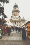BERLÍN, ALEMANIA - DICIEMBRE 06,2017: Mercado de la Navidad, Deutscher Imágenes de archivo libres de regalías