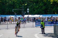 Berlín, Alemania - 05 13 2018: Evento de la bicicleta de Velothon en Berlín imagenes de archivo