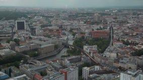 Berlín de la torre de la TV almacen de video