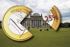 Berlín, el edificio alemán del parlamento, Reichstag, impuesto sobre la renta, primer Fotos de archivo