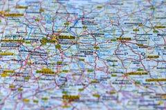 Berlín en el mapa fotografía de archivo libre de regalías