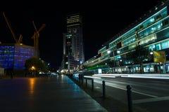 Berlín en la iluminación de la noche Imagen de archivo libre de regalías