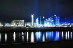 Berlín Hauptbahnhof en la noche imágenes de archivo libres de regalías