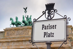 Berlín Pariser Platz Imagenes de archivo