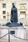 Berlanga de Duero statue of Fray Tomas de Berlanga. Berlanga de Duero, Spain - April 14, 2014: Statue of Fray Tomas de Berlanga, Soria Province, Castile and Leon stock images