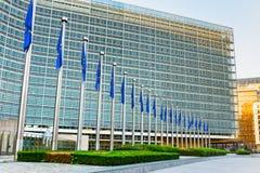 Berlaymont大厦在早晨 免版税库存照片