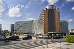Berlaymont Building in Brussels, Belgium Royalty Free Stock Photos