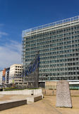 Berlaymont building of European Comission in Brussels Stock Photography