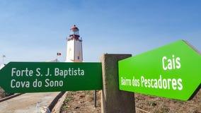 Berlengas灯塔, Peniche,葡萄牙 免版税库存图片