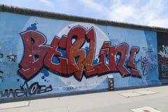 Berlińscy graffiti przy wschodniej części galerią Obraz Stock
