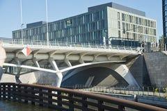 Berlińscy nowożytni budynki Obrazy Royalty Free