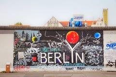 Berlińska ściana Berlińczyk Mauer z graffiti Fotografia Stock