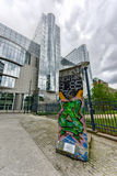 Berlińska ściana - Bruksela, Belgia Obraz Royalty Free