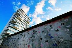 Berlińska ściana był chroniącym betonową przeszkodą który fizycznie i ideologicznie dzielący Berlin, Berlin, Niemcy, Europa Obraz Royalty Free
