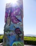 Berlińska ściana Na zachód Folująca Zdjęcia Stock