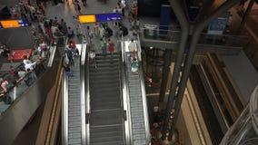 Berlińska Głównej staci centrala Hall zbiory wideo