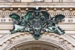 Berlińska katedra: brązowa wrotna dekoracja Fotografia Stock
