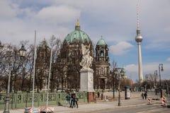 Berlińska katedra i TV górujemy, berlińczyków Dom Obraz Royalty Free