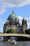 Berlińska katedra Niemieccy berlińczyków Dom Sławny punkt zwrotny na Muzealnej wyspie w Mitte, Obraz Royalty Free