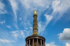 Berlińska zwycięstwo kolumna Siegessaule obraz stock