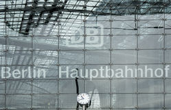 Berliński Hauptbahnhof dworzec Obrazy Stock