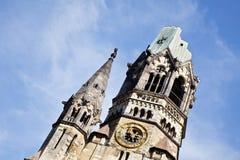Berliński Kaiser Wilhelm Pamiątkowy kościół (Niemcy) Obrazy Stock