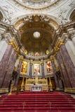 Berliński katedralny kościelny ołtarz Zdjęcia Stock