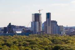 Berliński linia horyzontu widok od zwycięstwo kolumny Kurfuerstendamm ( Fotografia Royalty Free