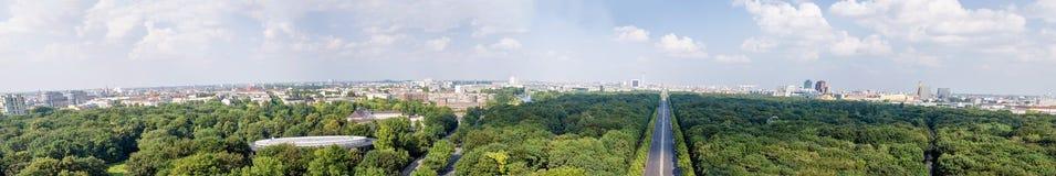 Berliński powietrzny panoramiczny widok od zwycięstwo kolumny Zdjęcia Stock